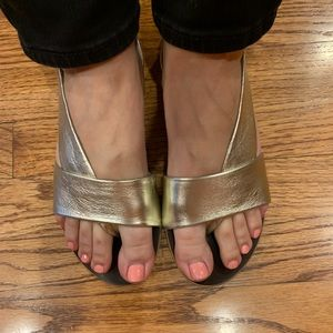 Free people gold sandals